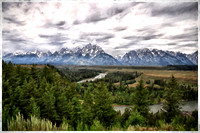 Tetons Over The Snake